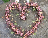 Heart Shaped Wreath with Mauve roses for Valentines Day