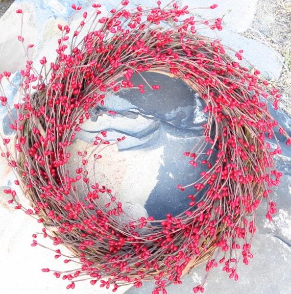 Christmas Wreath, red burgundy berries, front door decor