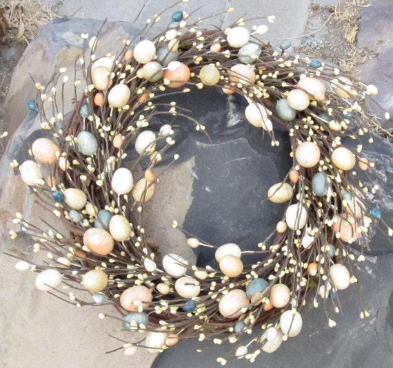 Easter Wreath - door wreath - pastel eggs - spring wreath