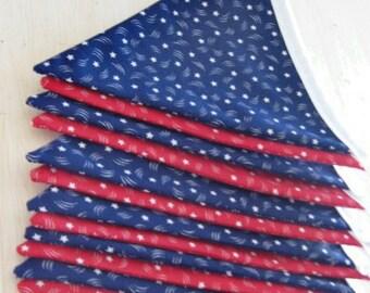 Patriotic Fabric Pennant Banner