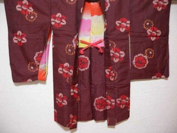 Vintage haori 1062,  silk, Meisen type, long sleeves