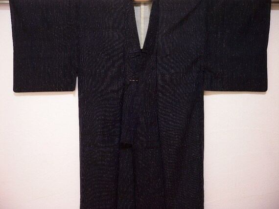 Vintage kimono 1627, hitoe for men, tsumugi silk