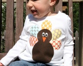 Turkey Tee... Long Sleeve 12m, 18m, 24m, 3T, 4T, 5T