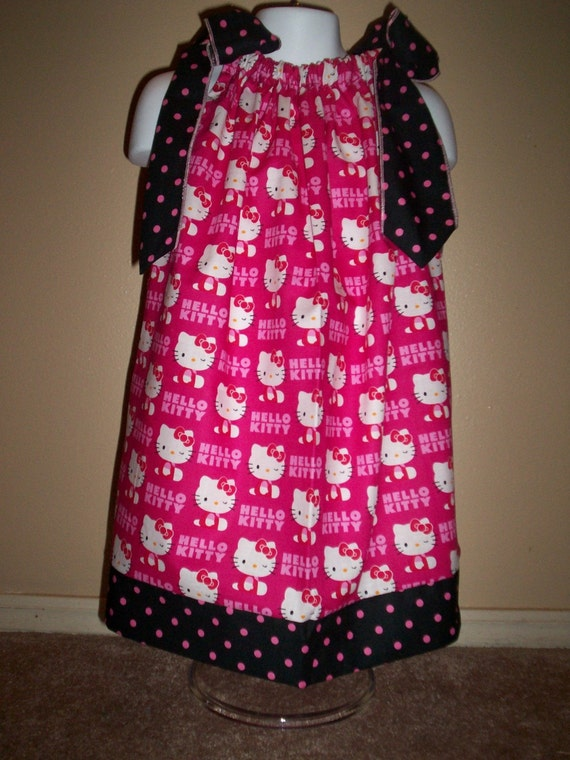 Hello Kitty , Pillowcase dress, size 12 months up to size 8