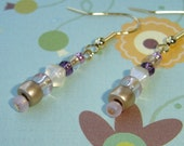 CLEARANCE - Pearls, Gold and Pink Dangles