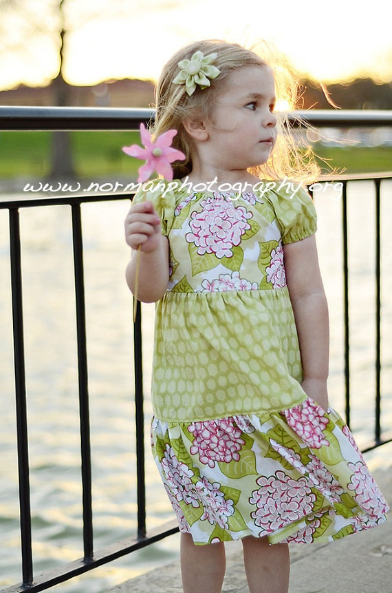 Twirl Dress - Spring Garden -  Available sizes: 24 months-5T - Handcrafted by Valeriya