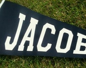 Personalized Pennant - Varsity Lettering