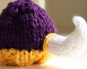 Viking Hat in Purple and Gold