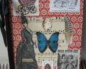 Altered Journal notebook Vintage wallpaper Victorian images One of a Kind