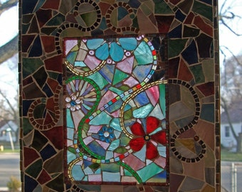 Mosaic Sun Catcher Floral-Swirly Stained Glass