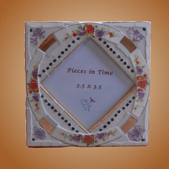 Mosaic Frame Mini Orange Rose