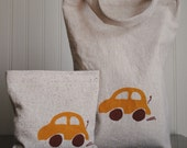 Lunch Bag and Reusable Sandwich Bag Set Little Car