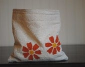 CLEARANCE Reusable Sandwich or Snack Bag Orange Flower