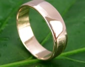 14K Rose Gold 5mm Mens Wedding Band or Ring, Smooth Texture,  size 10.25 through 12, any size available, Sea Babe Jewelry