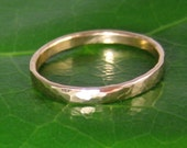 14K Rose Gold Wedding Ring, Hammered, 2mm, size 3 through 6, any size available, Sea Babe Jewelry