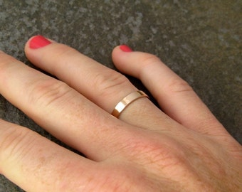 Medium Width Wedding Band 14K Rose Gold 3mm Band