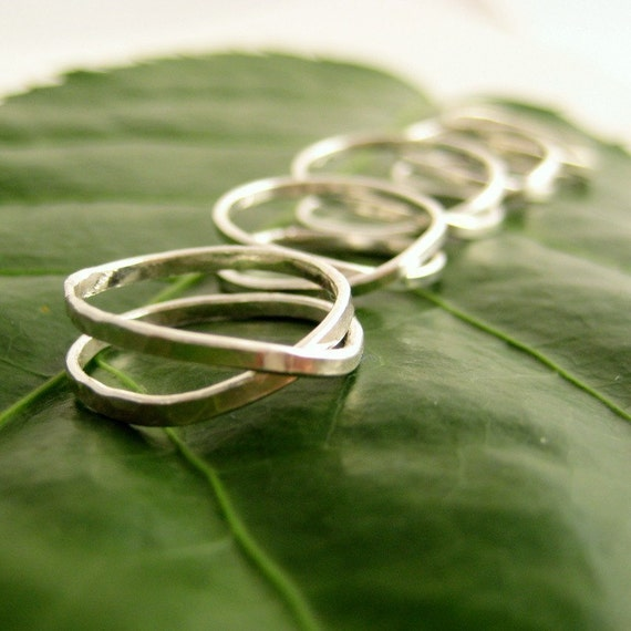 Bridesmaid Gift, Silver Ring Infinity Eternity, set of four, Sea Babe Jewelry