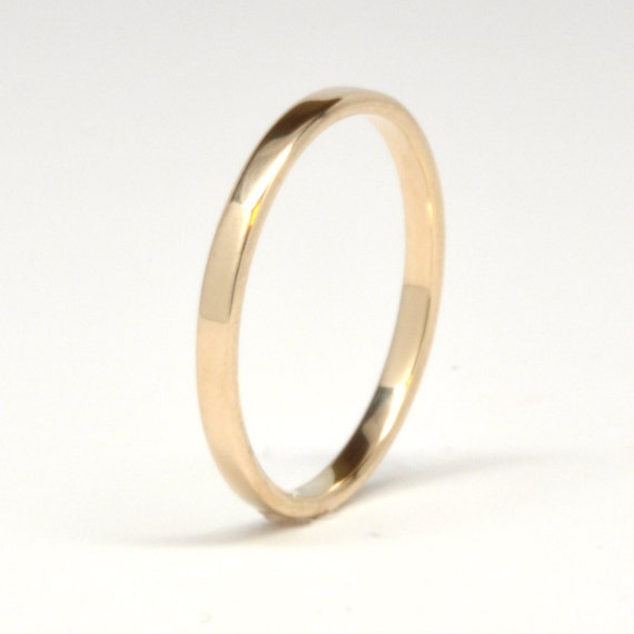 14K Yellow Gold Wedding Band Simple Gold Ring, 2mm Stacking, sizes 6.25-9 this listing, Sea Babe Jewelry