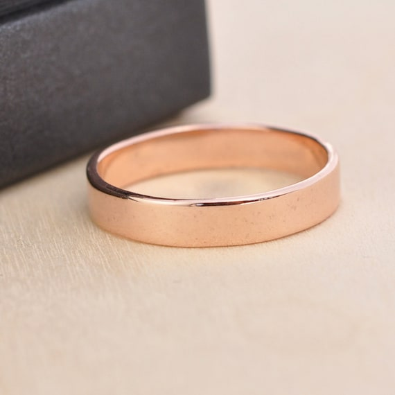 14K Rose Gold Wedding Band, 4mm, Plain Smooth Gold Ring, sizes 3-5.75 this listing, Sea Babe Jewelry