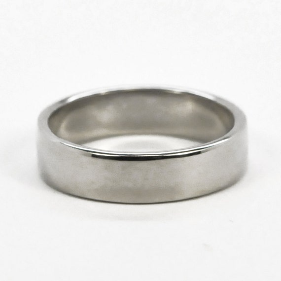 Mens 14K White Gold Hand Forged Wedding Ring or Band, 5mm size 10.25 through 12, any size available, Sea Babe Jewelry