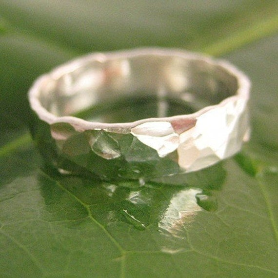 The Twenty Dollar Ring, Fine Silver Forged Ring