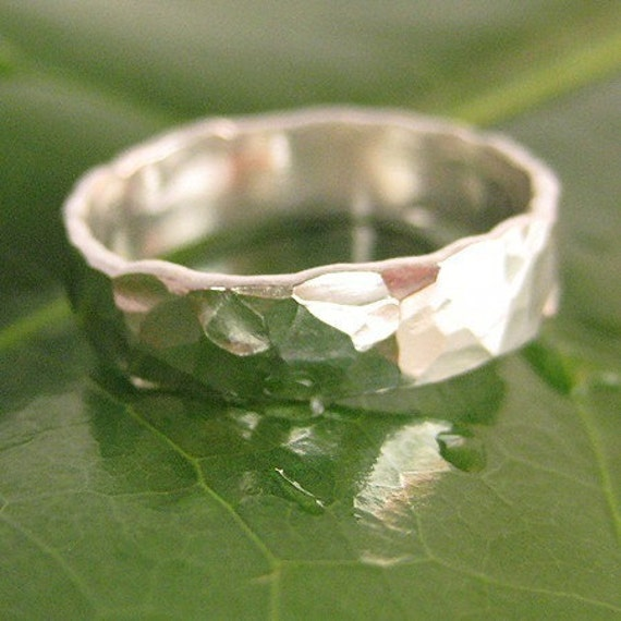 The Twenty Dollar Ring, Fine Silver Hammered and Forged Ring