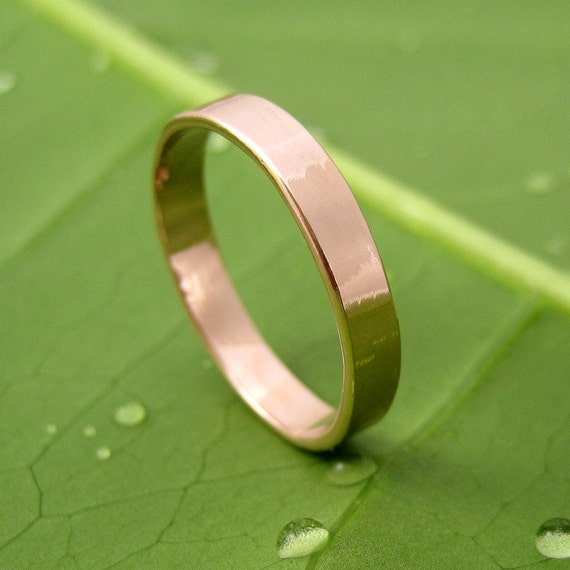 14K Rose Gold Hand Forged Medium Band