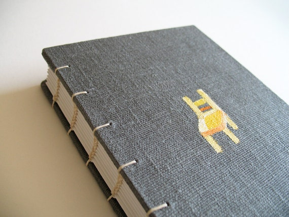 Linen fabric covered journal book -Chair