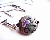 Lilac . One of a kind lampwork necklace