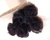 Flower Pins - Black Chiffon