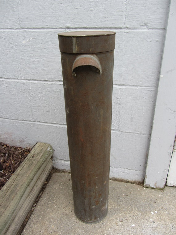 Industrial Home Decor Metal cylinder tube tall container