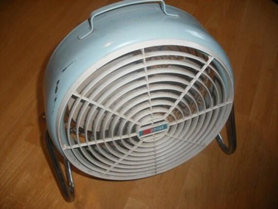 Vintage Electric Light Blue Fan
