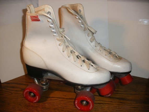 Vintage White Chicago Roller Skates