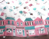 Vintage Organdy fabric, Shopping Street