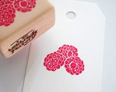 Raspberry Hand Carved Rubber Stamp