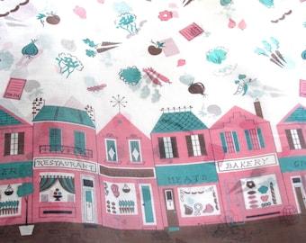 Vintage Organdy fabric, Shopping Street