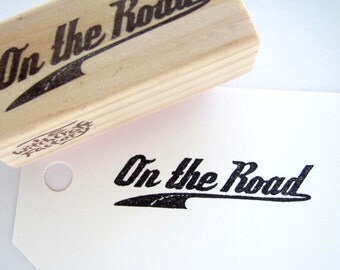 On the Road, Hand Carved Stamp