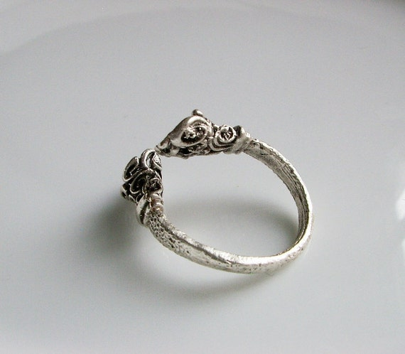 Silver  plated Ring base with two holes-1pc