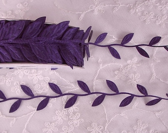 NEW COLOR 3yds Purple Trim on a Vine great for scrapbooking quilts clothing holiday bridal