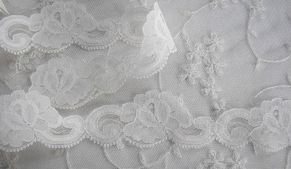 3yd Chic Ivory Rose Flower lace Ribbon Trim Scrapbook Doll Quilt Bridal Veil