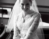Custom Wedding Gown - Alencon Lace Bridal Ensemble