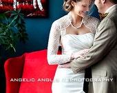 Bridal Lace bolero - Custom 3/4 or Long Sleeves
