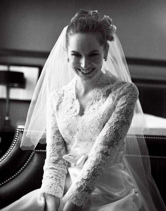 Lace Bridal Jacket -Long Sleeve Custom Alencon Lace Jacket