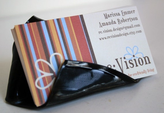 Recycled Record Business Card Holder