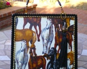 Southwestern Wild Mustangs HORSELOVER CIGAR Box PURSE