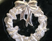 Two VINTAGE Silver Plated HOLIDAY ORNAMENTS