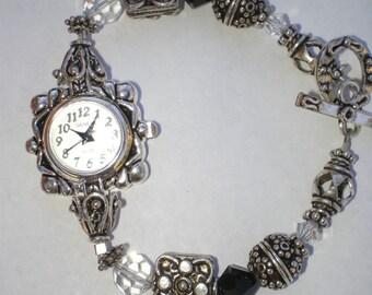 Bali Silver and Swarovski Crystal Watch