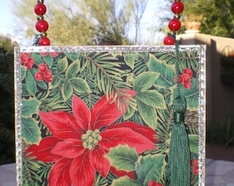 POINSETTIA Cigar Box PURSE
