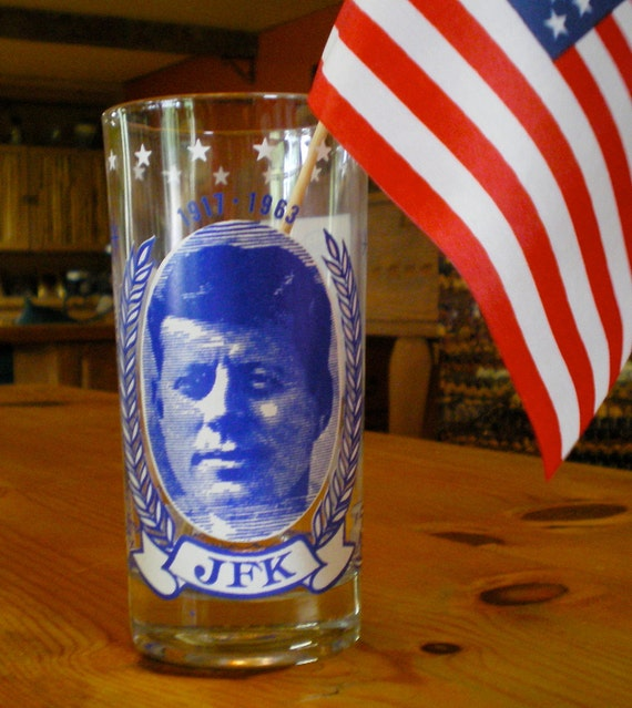 Vintage JFK Commemorative 12 oz. Glass - 48 yrs old