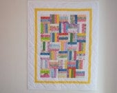 SALE - Baby Quilt-Rail Fence